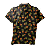 Dark Pineapple Men's Polo Shirt-Shelfies-XS-| All-Over-Print Everywhere - Designed to Make You Smile