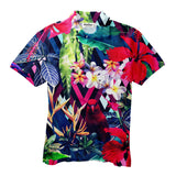 Floral Bird Men's Polo Shirt-Shelfies-XS-| All-Over-Print Everywhere - Designed to Make You Smile