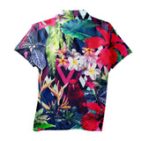 Polo Shirts - Floral Bird Men's Polo Shirt