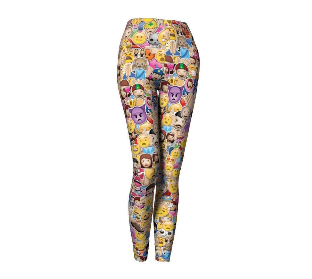 Emoji Invasion Leggings-Shelfies-| All-Over-Print Everywhere - Designed to Make You Smile