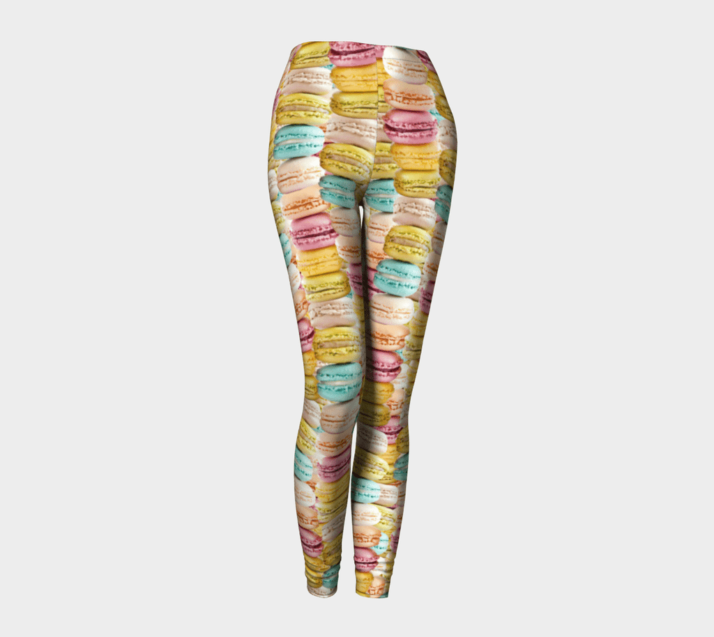 Pastel Macaroons Invasion Leggings-Shelfies-| All-Over-Print Everywhere - Designed to Make You Smile
