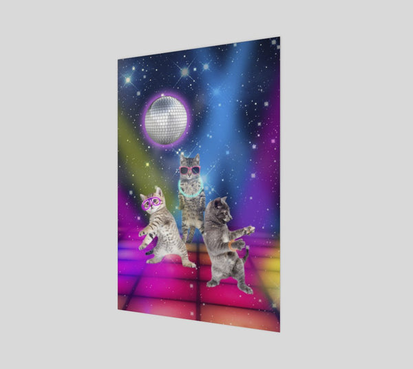Party Cats Poster-Shelfies-| All-Over-Print Everywhere - Designed to Make You Smile