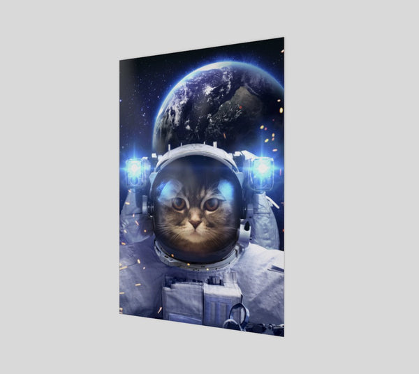 Astronaut Cat Poster-Shelfies-| All-Over-Print Everywhere - Designed to Make You Smile
