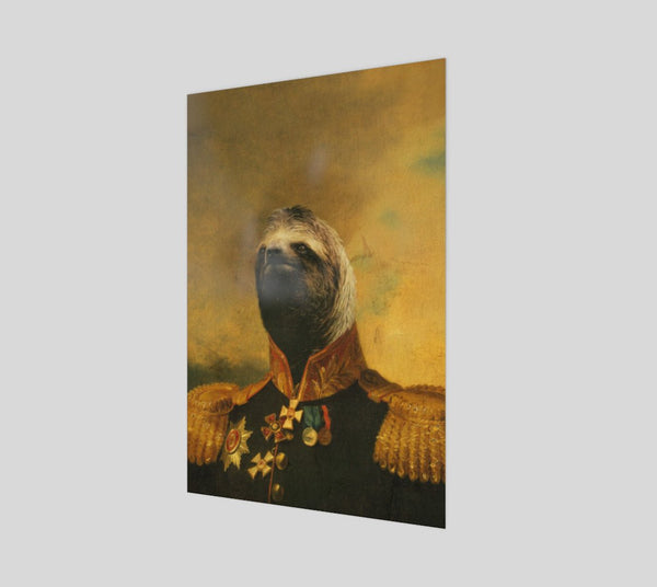 Commander Sloth Poster-Shelfies-| All-Over-Print Everywhere - Designed to Make You Smile