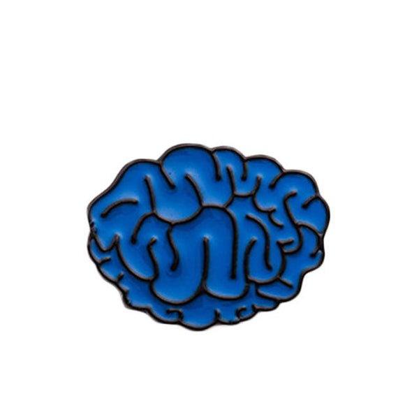 Brain Power Brooch Pin-Shelfies-| All-Over-Print Everywhere - Designed to Make You Smile