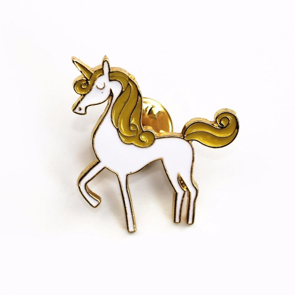 Poised Unicorn Brooch Pin-Shelfies-| All-Over-Print Everywhere - Designed to Make You Smile
