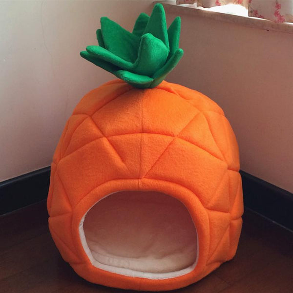Pineapple Under the Sea Pet Bed-Shelfies-| All-Over-Print Everywhere - Designed to Make You Smile