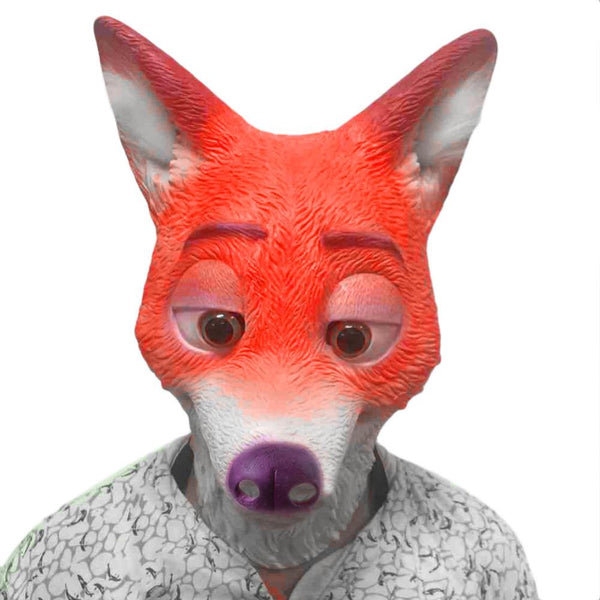 Fox Head Animal Mask-Shelfies-| All-Over-Print Everywhere - Designed to Make You Smile