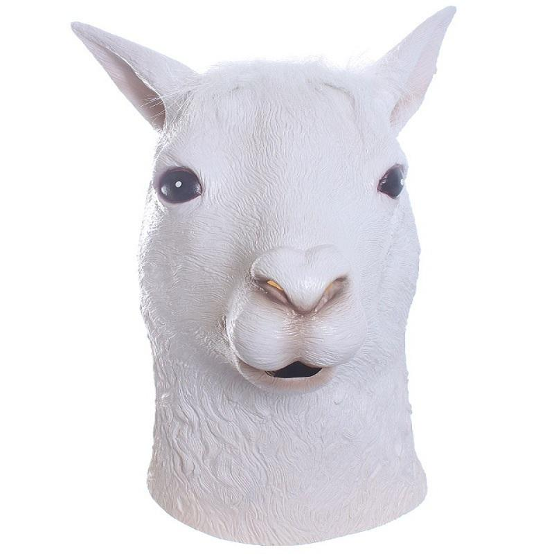 Alpaca Head Animal Mask-Shelfies-| All-Over-Print Everywhere - Designed to Make You Smile