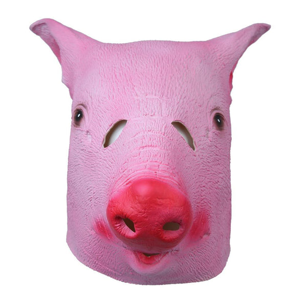 Pink Pig Head Animal Mask-Shelfies-| All-Over-Print Everywhere - Designed to Make You Smile