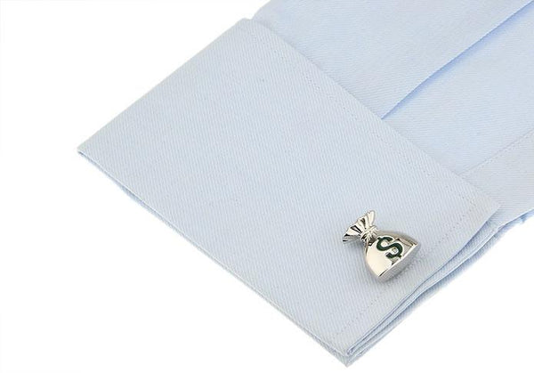 Money Bag Cuff Links-Shelfies-| All-Over-Print Everywhere - Designed to Make You Smile