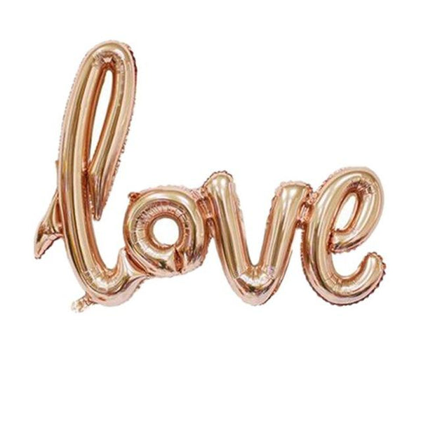 Love Is In The Air Balloon (Gold & Red)-Shelfies-Rose Gold-| All-Over-Print Everywhere - Designed to Make You Smile