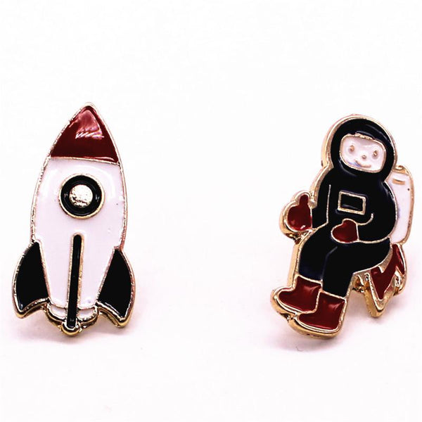Rocket Man Brooch Pin-Shelfies-| All-Over-Print Everywhere - Designed to Make You Smile