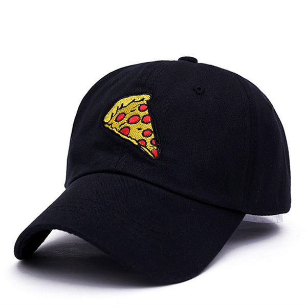 Large Pepperoni Pizza Slice Embroidered Dad Hat-Shelfies-Black-| All-Over-Print Everywhere - Designed to Make You Smile