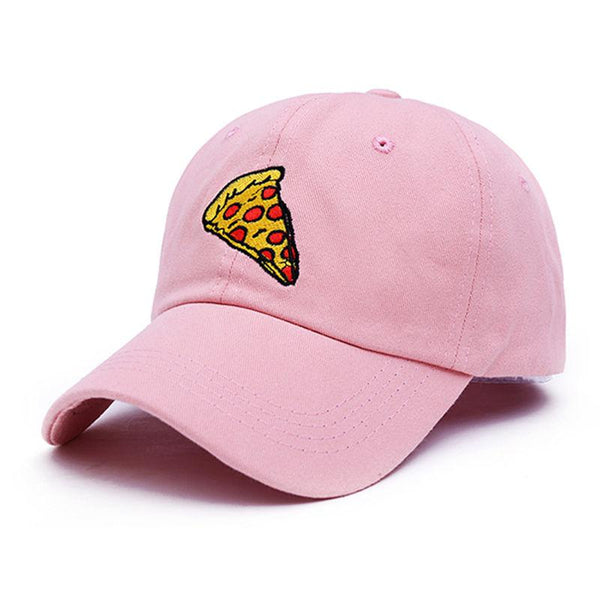 Large Pepperoni Pizza Slice Embroidered Dad Hat-Shelfies-Pink-| All-Over-Print Everywhere - Designed to Make You Smile