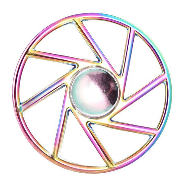 Rainbow Wheel Fidget Spinner-Shelfies-| All-Over-Print Everywhere - Designed to Make You Smile