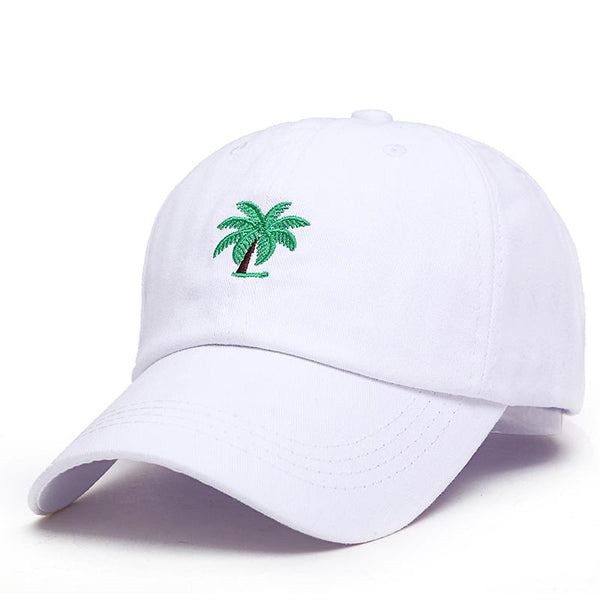 Big Palm Tree Embroidered Dad Hat-Shelfies-White-| All-Over-Print Everywhere - Designed to Make You Smile
