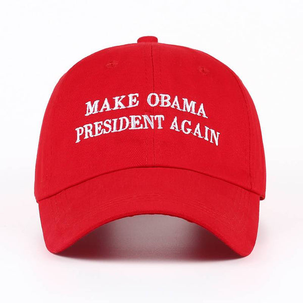 MAKE OBAMA PRESIDENT AGAIN Embroidered Dad Hat-Shelfies-| All-Over-Print Everywhere - Designed to Make You Smile