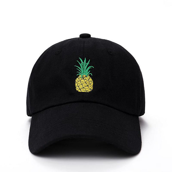 Pineapple Embroidered Dad Hat-Shelfies-Black-One Size-| All-Over-Print Everywhere - Designed to Make You Smile