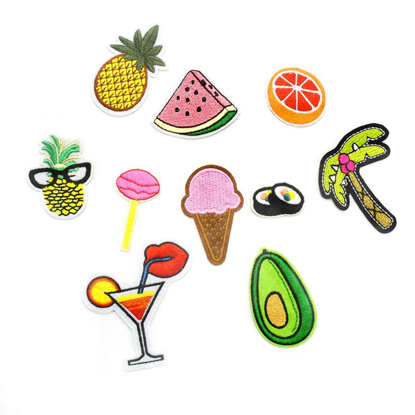 Every Day's A Beach Iron-On Patches - 10 pc set-Shelfies-| All-Over-Print Everywhere - Designed to Make You Smile