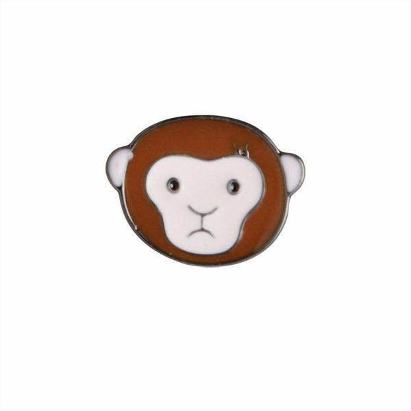 Monkeying Around Brooch Pin-Shelfies-| All-Over-Print Everywhere - Designed to Make You Smile
