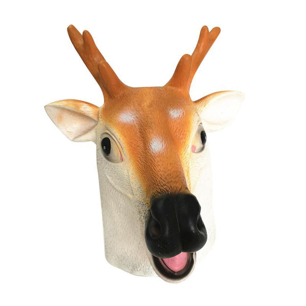 Deer Head Animal Mask-Shelfies-| All-Over-Print Everywhere - Designed to Make You Smile