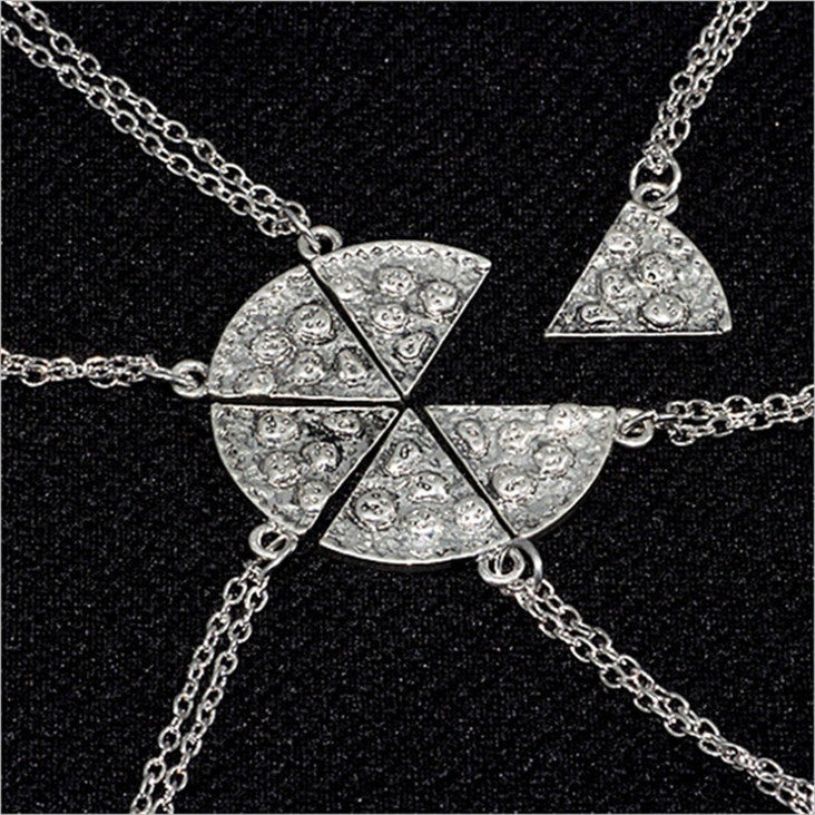 6-Piece Pizza Slice Friendship Necklaces-Shelfies-| All-Over-Print Everywhere - Designed to Make You Smile