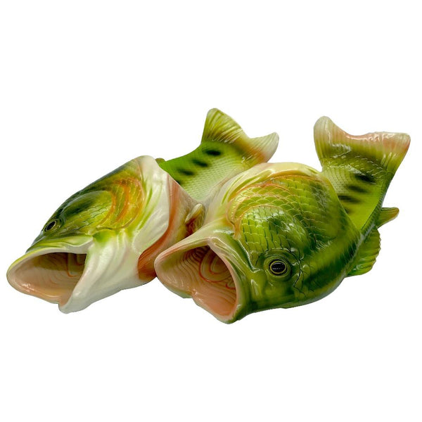 Fish 3D Slippers-Shelfies-| All-Over-Print Everywhere - Designed to Make You Smile