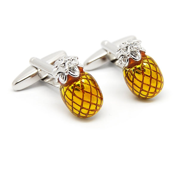 Pineapple Passion Cufflinks-Shelfies-| All-Over-Print Everywhere - Designed to Make You Smile