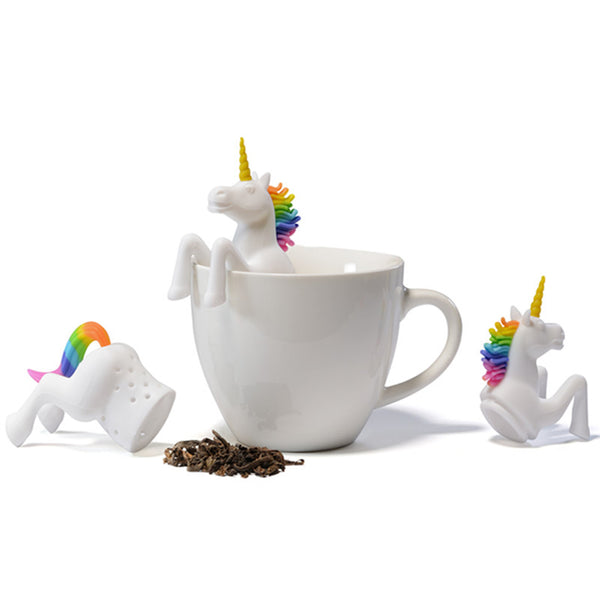 Rainbow Unicorn Silicone Tea Infuser-Shelfies-| All-Over-Print Everywhere - Designed to Make You Smile