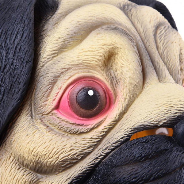 Pug Head Animal Mask-Shelfies-| All-Over-Print Everywhere - Designed to Make You Smile
