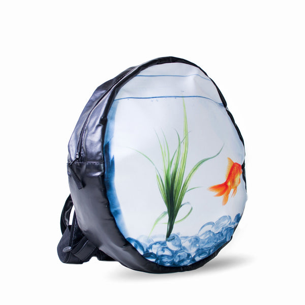 Round Backpacks - Goldfish Tank Round Backpack