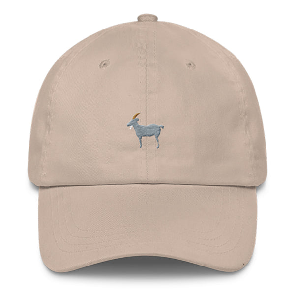 GOAT Dad Hat-Shelfies-Beige-| All-Over-Print Everywhere - Designed to Make You Smile