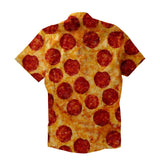 Short-Sleeve Button Down Shirt - Party Pizza Short-Sleeve Button Down Shirt
