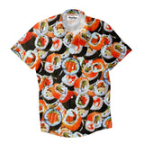 Sushi Invasion Short-Sleeve Button Down Shirt-Shelfies-| All-Over-Print Everywhere - Designed to Make You Smile