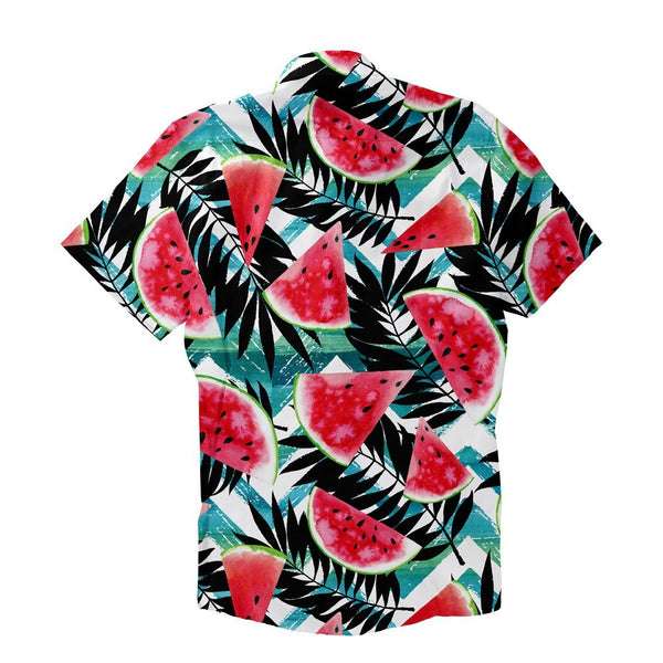 Tropical Melons Short-Sleeve Button Down Shirt-Shelfies-XS-| All-Over-Print Everywhere - Designed to Make You Smile