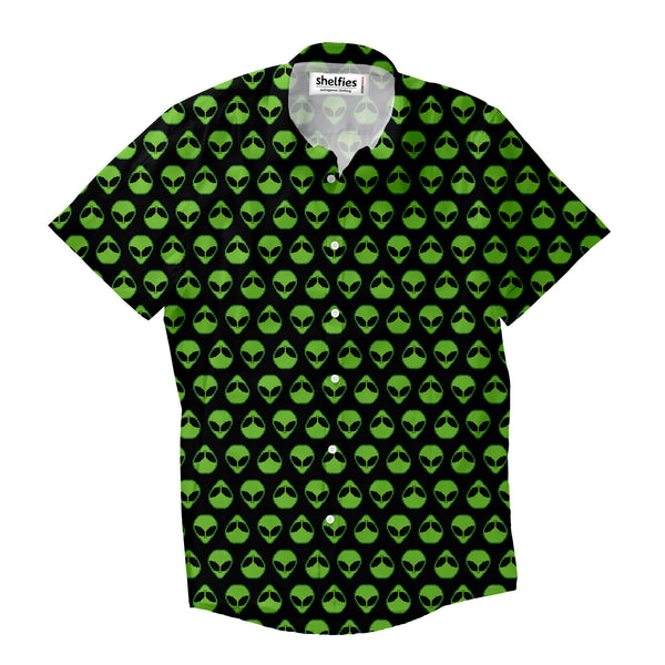 Short-Sleeve Button Shirts - Alienz Short-Sleeve Button Down Shirt