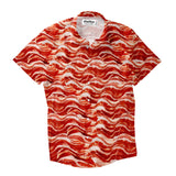 Short-Sleeve Button Shirts - Bacon Invasion Short-Sleeve Button Down Shirt