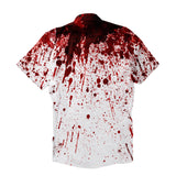 Short-Sleeve Button Shirts - Blood Splatter Short-Sleeve Button Down Shirt