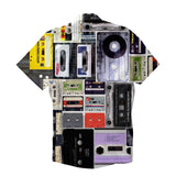 Short-Sleeve Button Shirts - Cassettes Invasion Short-Sleeve Button Down Shirt