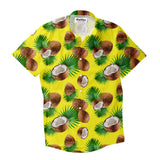 Cuban Coconut Short-Sleeve Button Down Shirt-Shelfies-| All-Over-Print Everywhere - Designed to Make You Smile