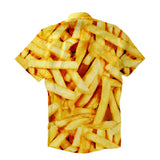 Short-Sleeve Button Shirts - French Fries Short-Sleeve Button Down Shirt