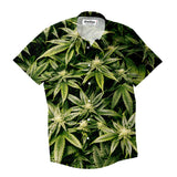 Short-Sleeve Button Shirts - Kush Leaves Short-Sleeve Button Down Shirt