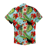 Tropical Bird Short-Sleeve Button Down Shirt-Shelfies-XS-| All-Over-Print Everywhere - Designed to Make You Smile