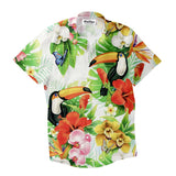Tropical Breeze Short-Sleeve Button Down Shirt-Shelfies-| All-Over-Print Everywhere - Designed to Make You Smile