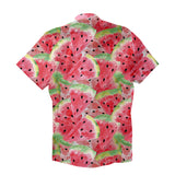 Watercolourmelon Short-Sleeve Button Down Shirt-Shelfies-| All-Over-Print Everywhere - Designed to Make You Smile