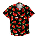 Watermelon Life Short-Sleeve Button Down Shirt-Shelfies-XS-| All-Over-Print Everywhere - Designed to Make You Smile