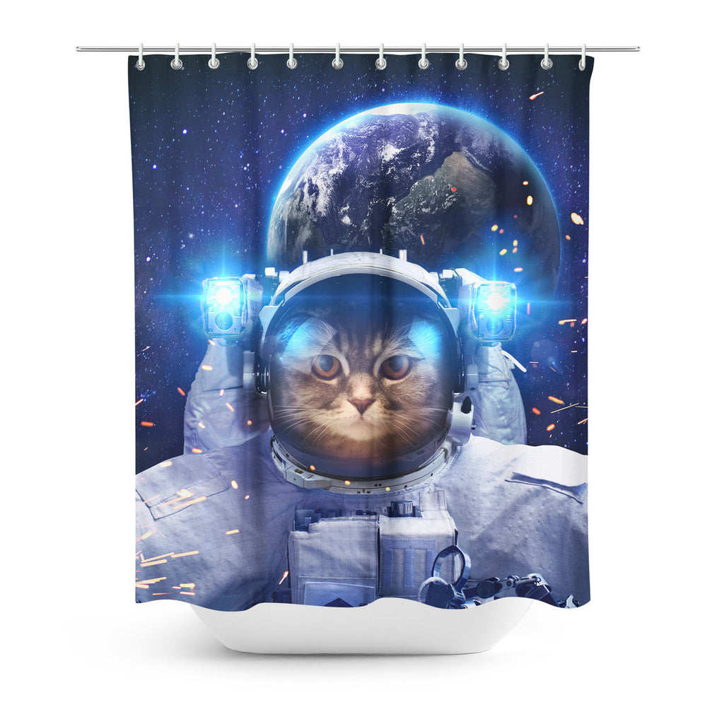 Shower Curtains - Astronaut Cat Shower Curtain