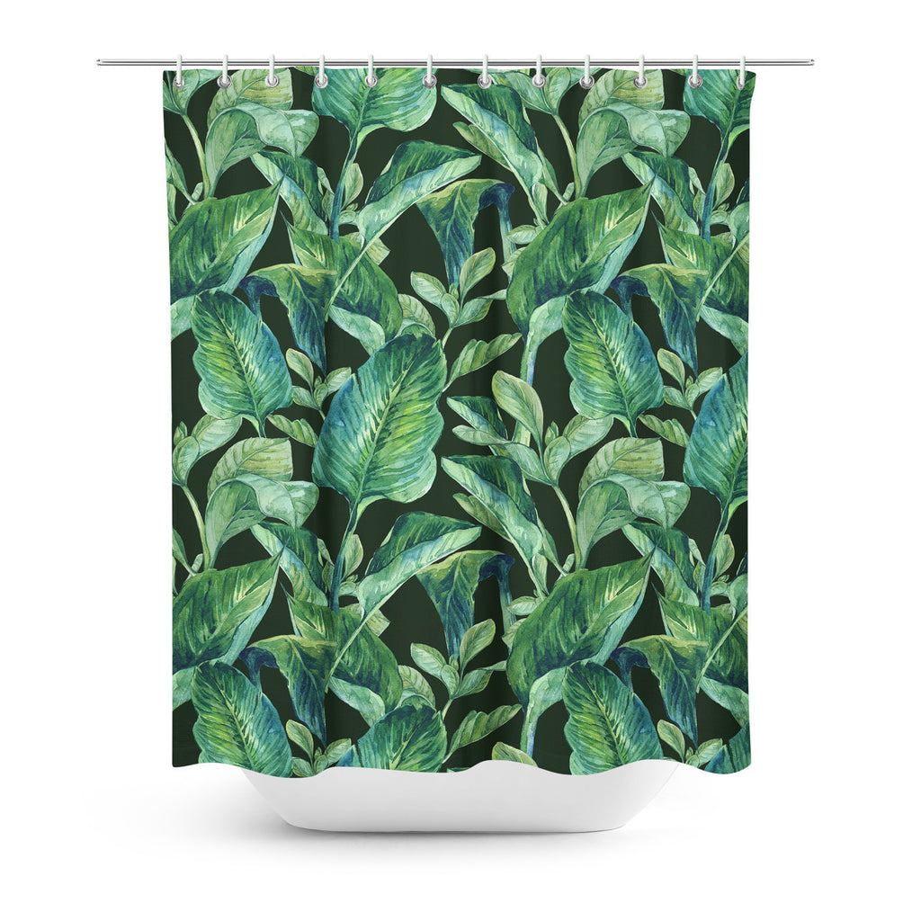 Shower Curtains   Banana Leaves Shower Curtain