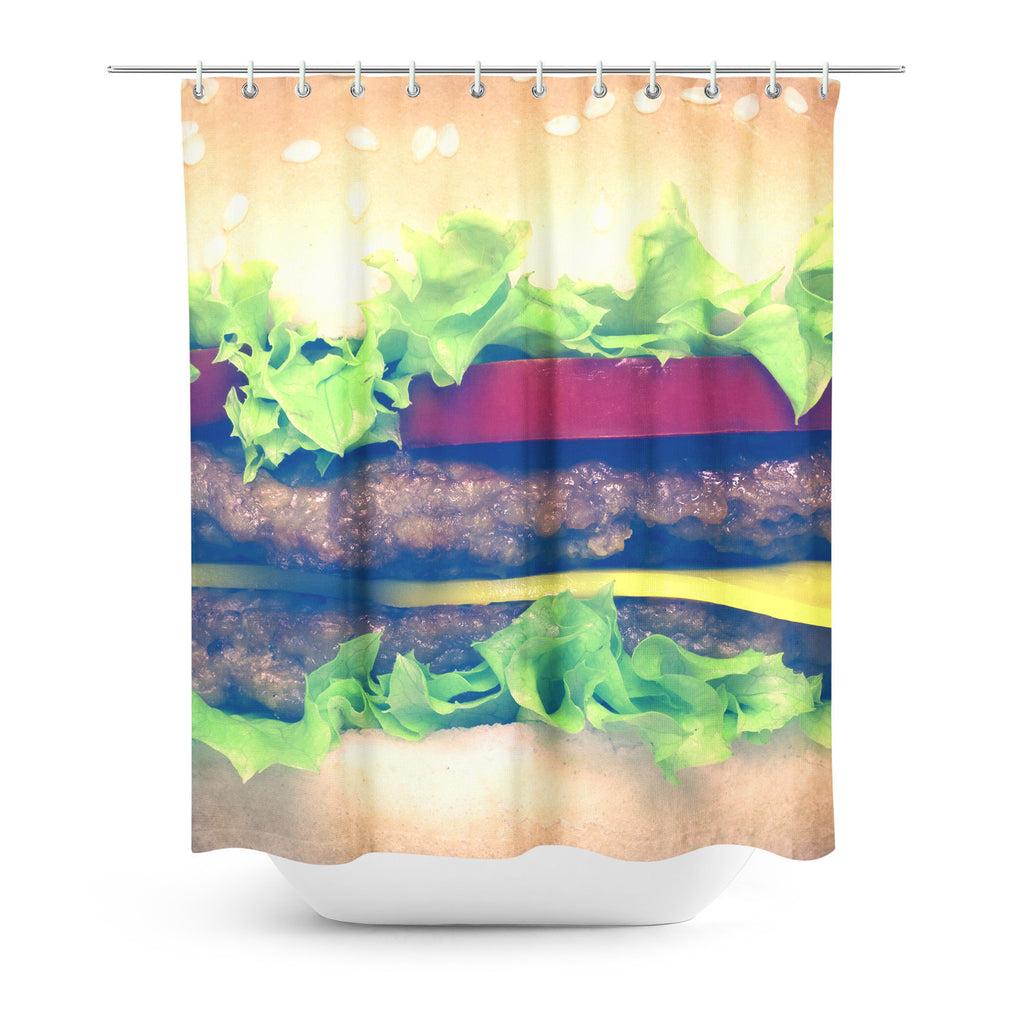 Shower Curtains - Burger Shower Curtain